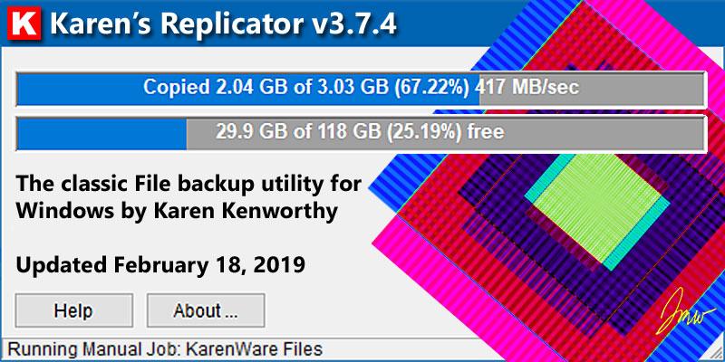 Karen's Replicator the Backup Utility for Windows v3 7 4